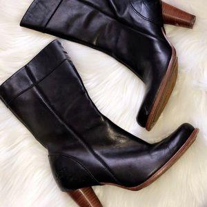 UGG Leather Heel Boots